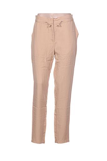 aaiko pantalons femme de couleur beige