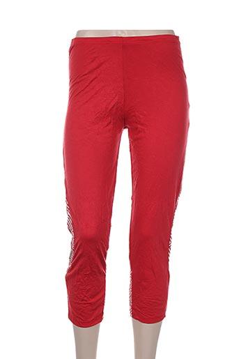 maloka pantalons femme de couleur rouge