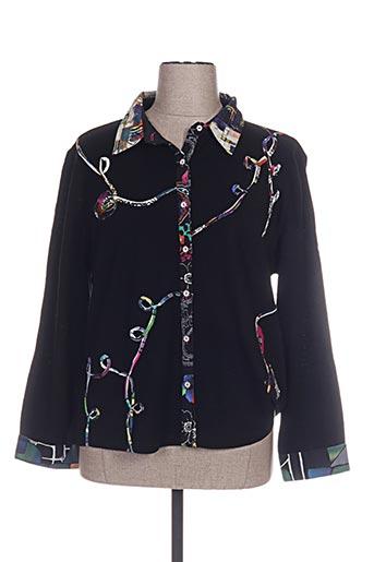 figure libre chemises femme de couleur noir