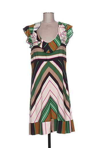 Robe mi-longue vert D-FIRST pour femme