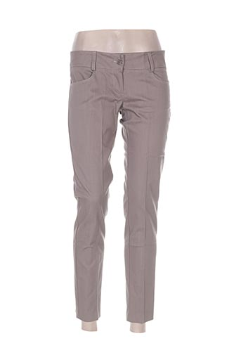 coconuda pantalons femme de couleur marron