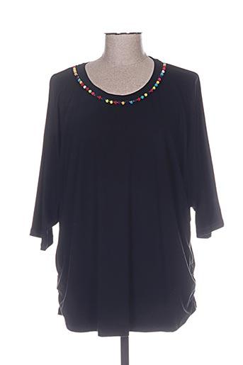 aprico t-shirts femme de couleur noir