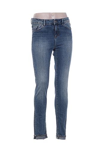 ddp jeans femme de couleur bleu