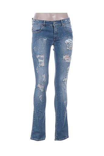 Jeans coupe slim bleu MET pour femme