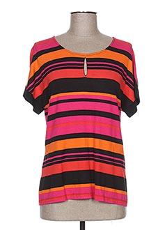 T-shirt manches courtes rose PAUPORTÉ pour femme