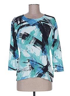 T-shirt manches longues bleu BLUOLTRE pour femme