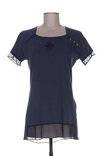 nanas de paris t-shirts femme de couleur bleu