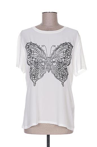 T-shirt manches courtes blanc ALEXE pour femme