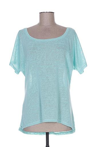 T-shirt manches courtes bleu BY MO pour femme