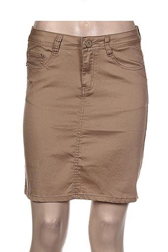 bs jeans jupes femme de couleur marron