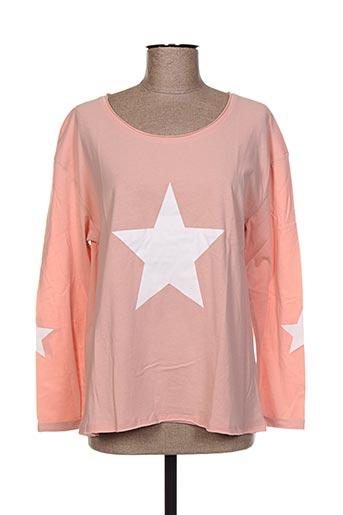 T-shirt manches longues rose CHOKLATE pour femme