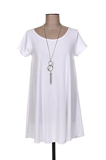 Tunique manches courtes blanc FASHION pour femme