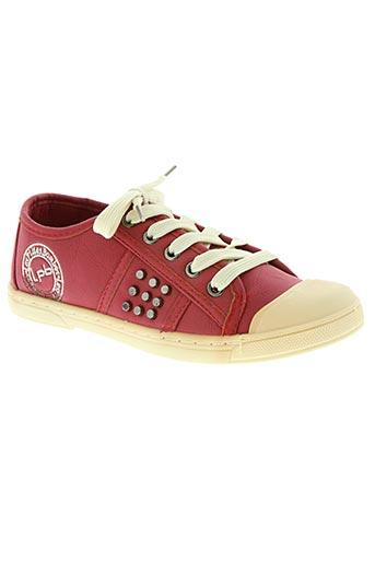 les p'tites bombes chaussures fille de couleur rouge