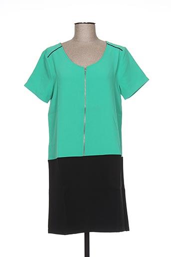 Robe courte vert CLO&SE pour femme