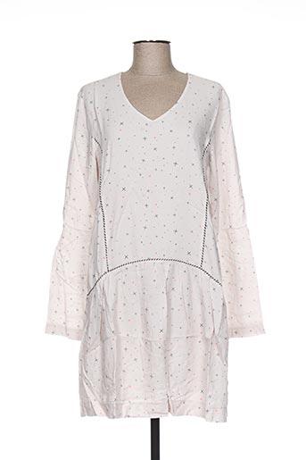Robe courte beige CLO&SE pour femme