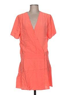 Robe mi-longue orange CLO&SE pour femme