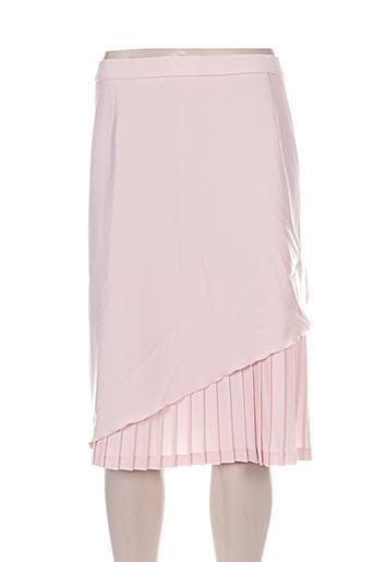 parisiennes jupes femme de couleur rose