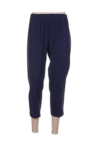 twister pantalons femme de couleur bleu