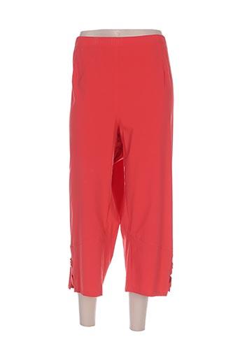 chalou pantacourts femme de couleur rouge