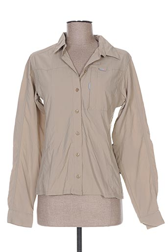 icepeak chemises femme de couleur beige