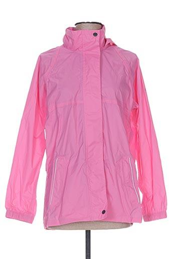 regatta manteaux fille de couleur rose