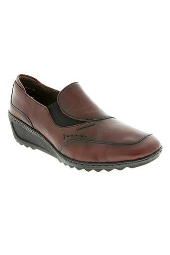 jenny chaussures femme de couleur rouge