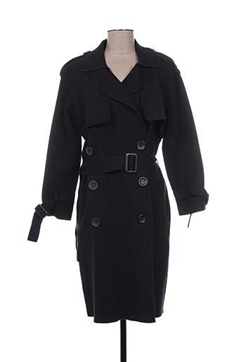 morgan manteaux femme de couleur noir