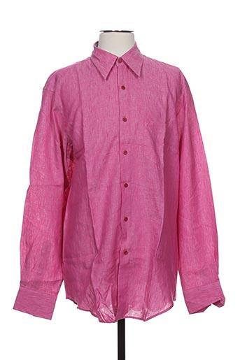 bruno saint hilaire chemises homme de couleur rose
