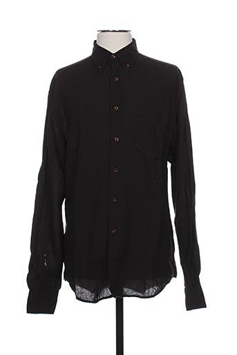 bruno saint hilaire chemises homme de couleur noir