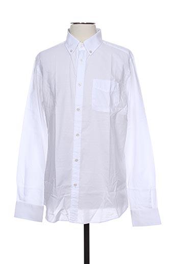 bruno saint hilaire chemises homme de couleur blanc