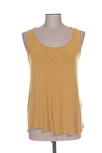 pako litto t-shirts femme de couleur jaune