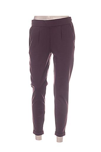 ichi pantalons femme de couleur violet