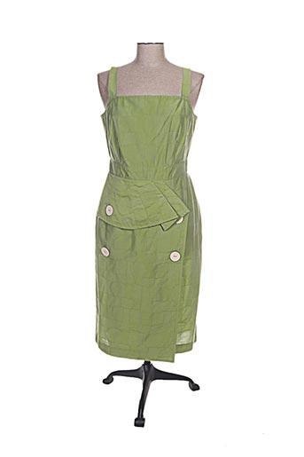 hug an' co robes femme de couleur vert