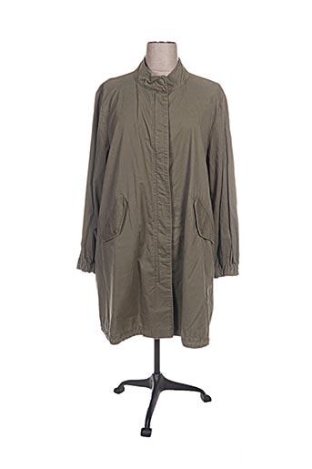open end manteaux femme de couleur vert