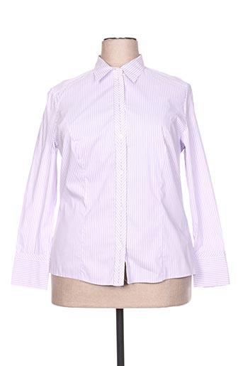 lebek chemises femme de couleur violet