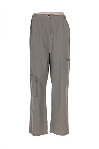 kakie pantalons femme de couleur vert