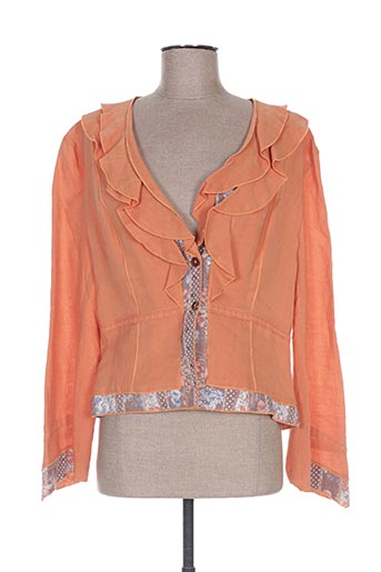 Veste casual orange CINOCHE pour femme