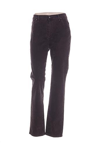 lcdn pantalons femme de couleur marron