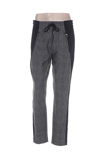 imitz pantalons femme de couleur gris