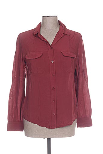 five chemises femme de couleur rouge