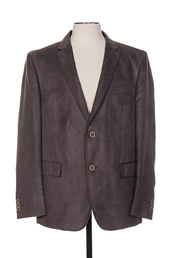 peter cofox vestes homme de couleur gris
