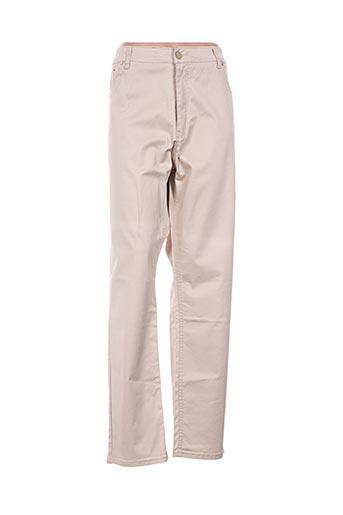 nana belle pantalons femme de couleur beige