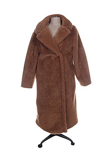 lumina manteaux femme de couleur marron