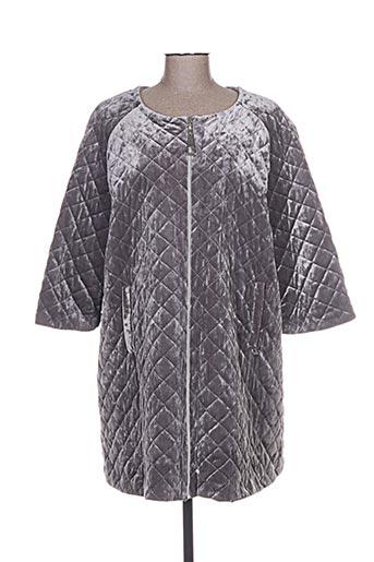 Manteau long gris MAT. pour femme