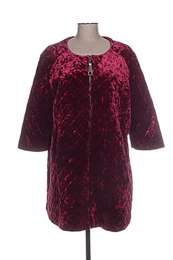 Manteau long rouge MAT. pour femme