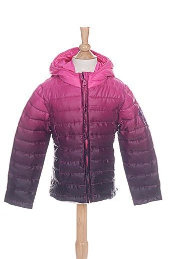 3 pommes manteaux fille de couleur rose