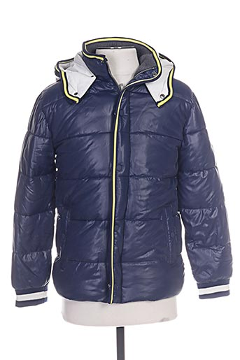nukutavake manteaux garçon de couleur bleu