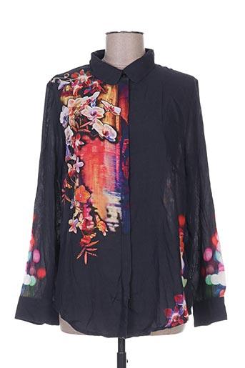 la fiancee du mekong chemises femme de couleur noir