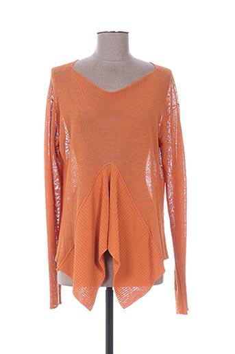 sarah pacini pulls femme de couleur orange
