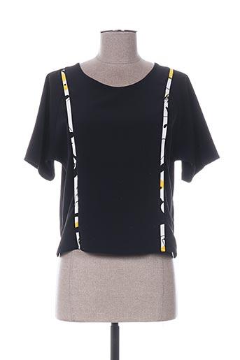 Blouse manches courtes noir CHACOK pour femme